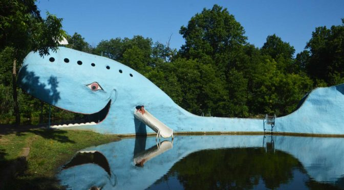 Oklahoma Sehenswürdigkeit der Blaue-WAL an der ROUTE 66