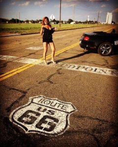 Adrian, Mittelpunkt der Route 66