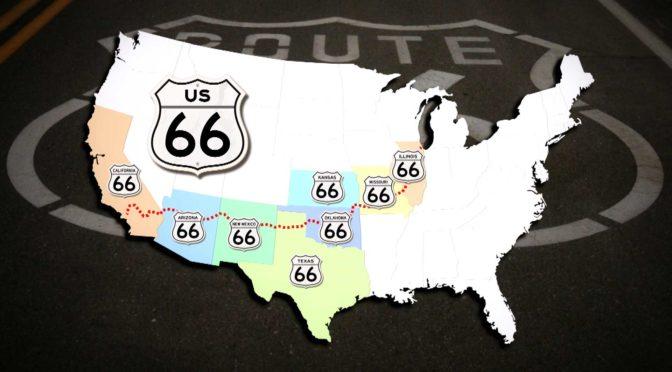 Route66 Streckenkarte gesamt karte