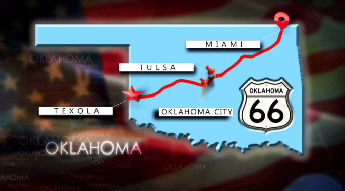 Route 66 Strecke in Oklahoma